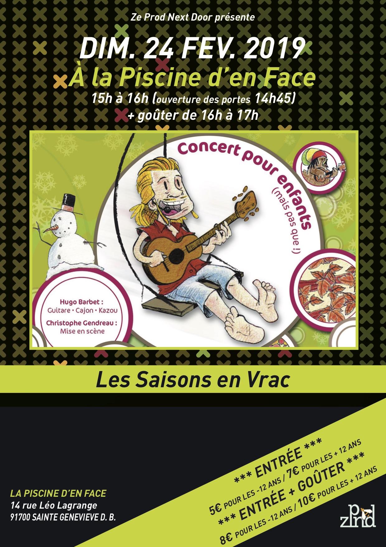 Concert enfants sainte genevi ve des bois dimanche 24 - Piscine de ste genevieve des bois ...